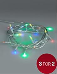 20 Multicoloured Battery LED Christmas Lights