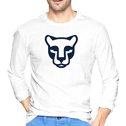 Men's Schedule Mascot Penn State Nittany Lions T-shirts White Long Sleeve