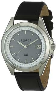 Regent Herren-Armbanduhr XL Analog Leder 11110520