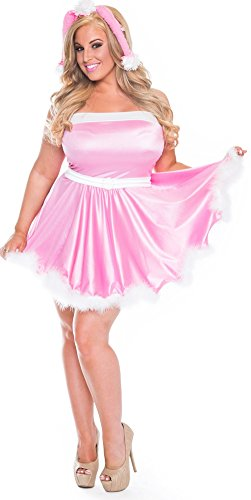 Delicate Illusions womens Plus size Pink Poodle Costume