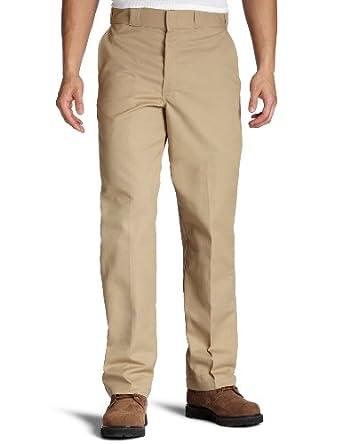 Dickies Men's Flat Front Multi Use Pocket Work Pant, Khaki, 30x30
