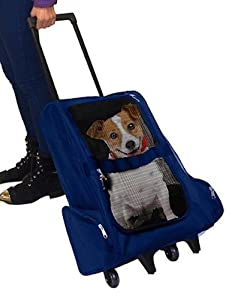 Unique Petz Pet Stroller, Blue