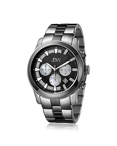 JBW Men's JB-6218-A DELANO Two Tone Black Ion/Stainless Steel Watch