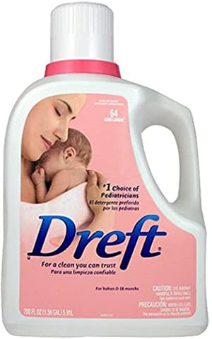 Dreft Liquid Detergent, 64 Load Bottle