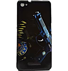 ECellStreet Exclusive Printed Soft Back Case Cover Back Cover For Micromax canvas Hue 2 A316 - Gun