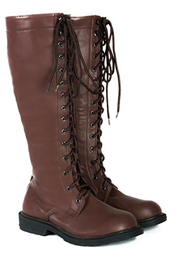 Steampunk-Western-Lace-Up-Combat-Boho-Bohemian-Women-1960s-Vintage-Style-Boots