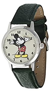 Ingersoll Disney Unisex Green Leather Mickey Mouse Strap Watch 26163
