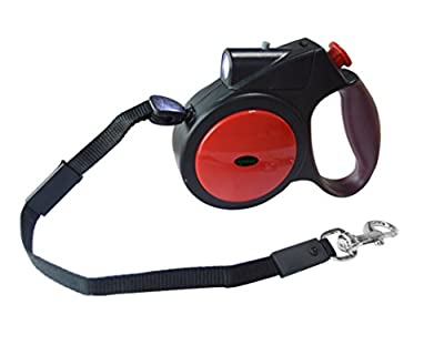 [Upgraded and Unique] Ipow Retractable Belt Pet Dog Leash - 14.76 Feet Long (With led light)