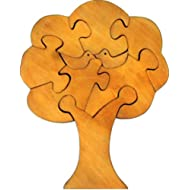 Little Genius Jigsaw Puzzle Tree Natural Finish, Multi Color