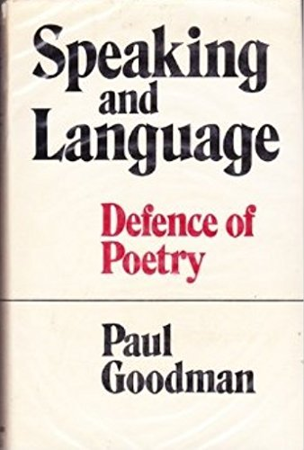 Image of Speaking and Language: Defence of Poetry