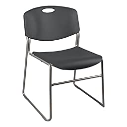 Norwood Commercial Furniture NOR-FEI1059CH-SO Heavy Duty Plastic Stacking Chair with Seat and Silver Mist Frame, 31\