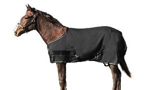 Kensington Yearling/LG Pony Egyptian Cotton Show Sheet, Black/Tan, 60-68-Inch