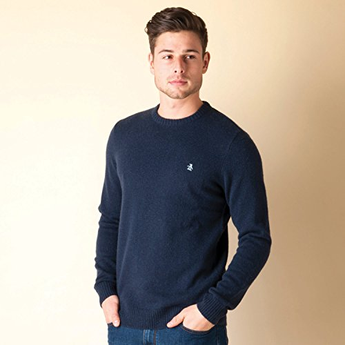 mens-original-penguin-mens-crew-neck-knit-sweat-in-navy-m