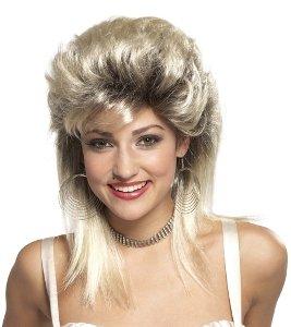 80s Rocker Groupie Wig (Blonde) Adult Accessory