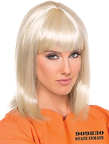 Womens Prisoner Costume Wig Shoulder Length Blonde Wig Piper Chapman Style Wig