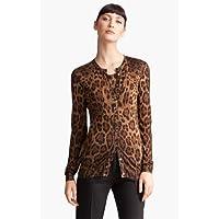Dolce&Gabbana Leopard Print Cardigan 女性 レディース セーター ニット 並行輸入