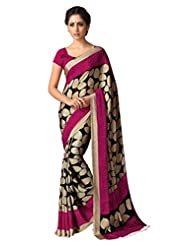 KRIZEL Women's Kora Silk Saree (Unifrom15_Multicolor_NA)