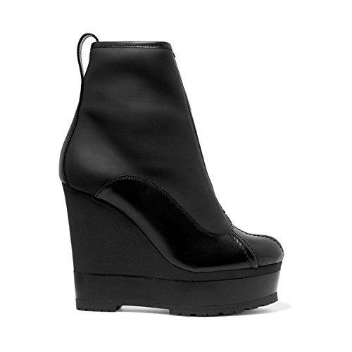 (セルジオ ロッシ) Sergio Rossi レディース シューズ・靴 ブーツ Paneled leather platform ankle boots 並行輸入品