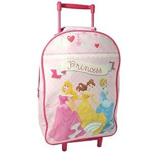 Disney Princess Girls Travel Cabin Wheeled Bag Trolley Suitcase Luggage Pink