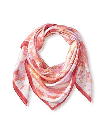 Elie Tahari Women's Ombre Abstract Snake Printed Scarf, Pink