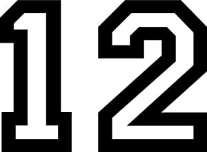 Amazon.com: Seahawks 12th Man Outline Decal Sticker - Size ...
