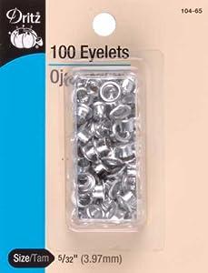"""Eyelets 5/32"""" 100/Pkg-Nickel"""