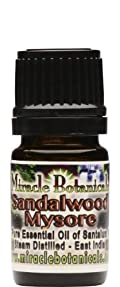 Sandalwood Mysore Essential Oil - 100% Santalum Album (Mysore, India) 5ml
