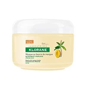 Klorane Mango Butter Intense Nutrition Repair Masque For Dry/Damaged Hair (5.07 oz.)