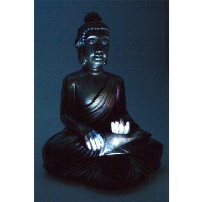Buddha Solarlampe Solar Lampe Licht Leuchte 30cm