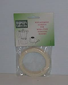 "Espresso Pot Gaskets 9-Cup 3 3/16"" Wide for Aluminum Pot Set-3 by Harold Import Company"