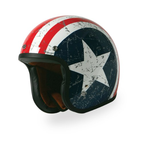 TORC (T50 Route 66) 3/4 Helmet with 'Rebel Star' Graphic (White, Large) 0