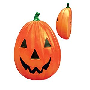 Click to read our review of Outdoor Halloween Lights: General Foam AC-H7419 Light up Plastic Pumpkin 29