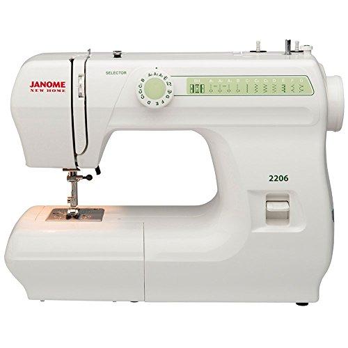 Janome 2206 6 Stitch FullSize Freearm Sewing Machine, 860SPM & FREE BONUS PACKAGE