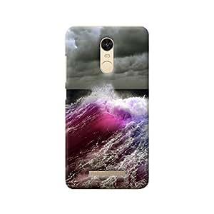 MIKZY Multicolour Sea Waves Printed Designer Back Cover Case for Xiaomi Redmi Note 3 (MultiColour)