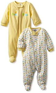 Gerber Unisex-Baby 2 Pack Sleep N Play Zip Front Ducks by Gerber