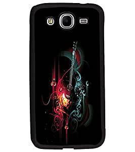 PrintDhaba Music D-2412 Back Case Cover for SAMSUNG GALAXY MEGA 5.8 (Multi-Coloured)