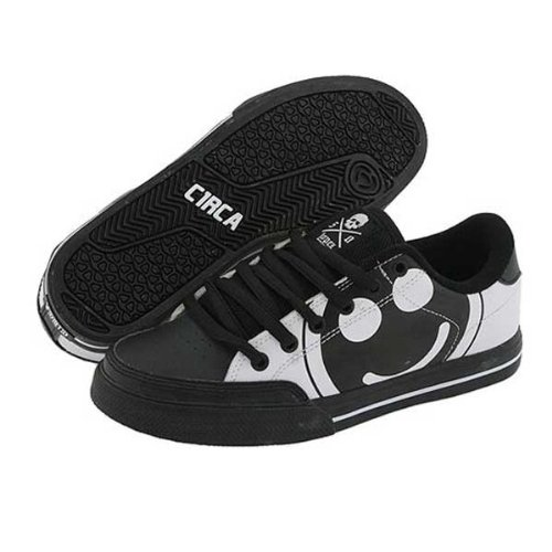 C1RCA Skateboarding Shoes ALK50BWSH Black / White / Super Happy - Circa Kids Shoes, shoe size:32