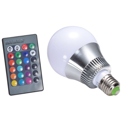 Mudder® E27 10W Rgb Led Color Changing Lamp Bulb 85-265V With Remote Controller