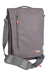 STM Linear Shoulder Bag with Integrated Sleeve for iPad/Tablet/Laptop (stm-112-026P-14) Color: Grey Size: M - 15-Inch
