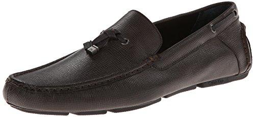 Calvin Klein Men'S Macon Epi Leather Slip-On Loafer,Dark Brown,7 M Us