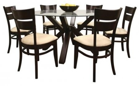 glass dining table and 6 chairs set clifforddiningset on dining tables