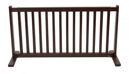 Dynamic Accents Indoor Free Standing Pet Gate / Safety Barrier - Large / Mahogany