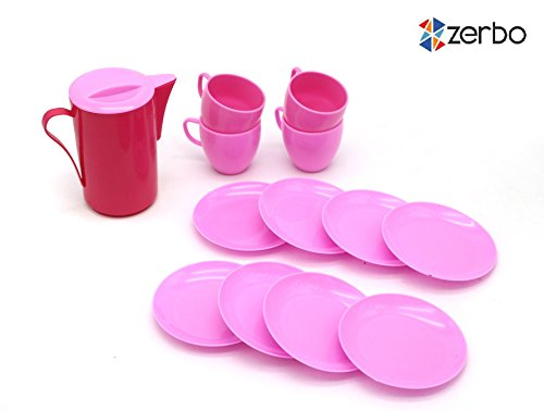 ZERBO-14-Piece-Mini-Dinnerware-Serving-Play-Set-for-Kids