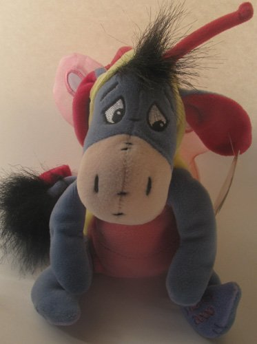 Disney Bean Bag Plush Eeyore Butterfly Easter 9""