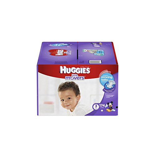 Huggies Little Movers Diapers, Size 3, 174 Count (One Month Supply) (Huggies Size 3 Diapers compare prices)