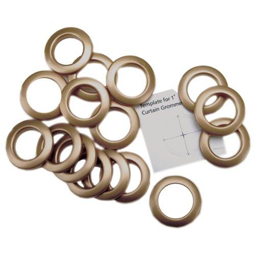 """Curtain Grommets 1"""" Inner Diameter 8/Pkg-Matte Gold"""