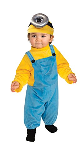Rubie's Costume Co Baby Boys' Minion Stewart Romper Costume, Yellow, Toddler (3T-4T)