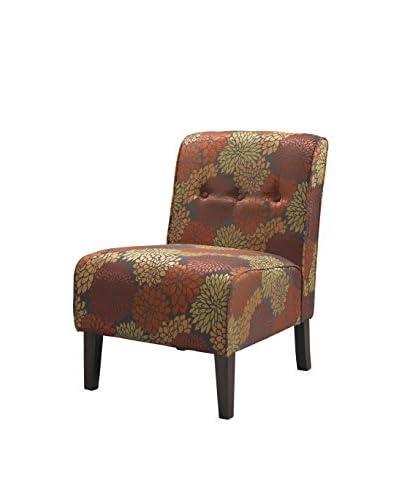 Linon Home Décor Coco Accent Chair, Dark Walnut