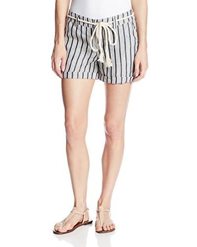 Michael Stars Women's Stripe Rolled Cuff Shorts
