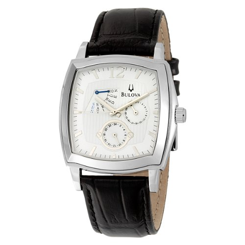 Bulova Men's 96C35 Multifunction Black Leather Strap Watch